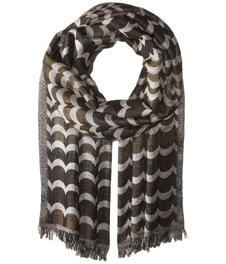 Echo Design - Scallop Shimmer Wrap (Black) Scarves