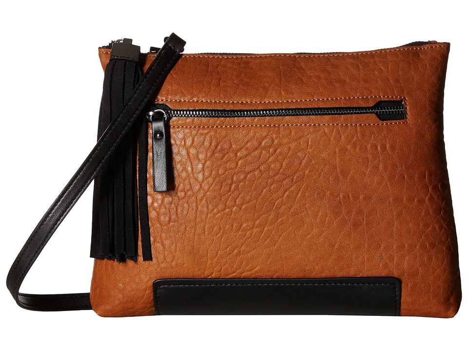 French Connection - Camden Clutch (Nutmeg/Black) Clutch Handbags