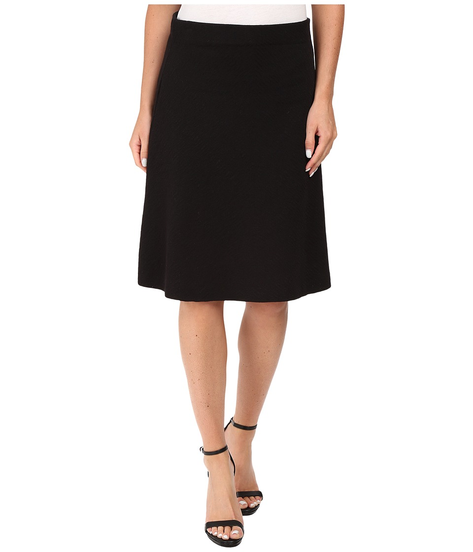 NIC+ZOE - Textured Flirt Skirt (Black Onyx) Women's Skirt