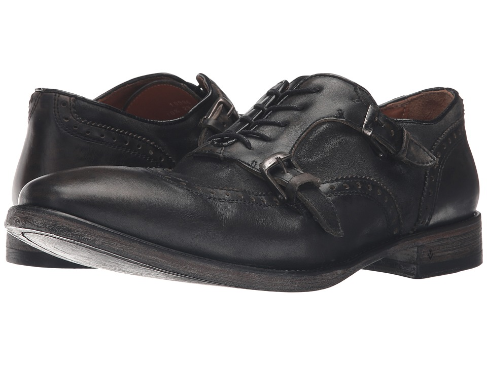 John Varvatos - Fleetwood Lace Double Monk (Lead) Men's Lace Up Wing Tip Shoes