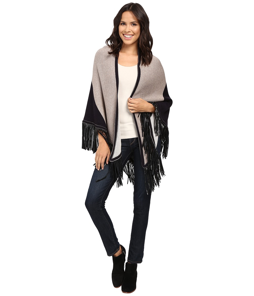 NIC+ZOE - Color Block Fringe Scarf (Neutral Mix) Scarves