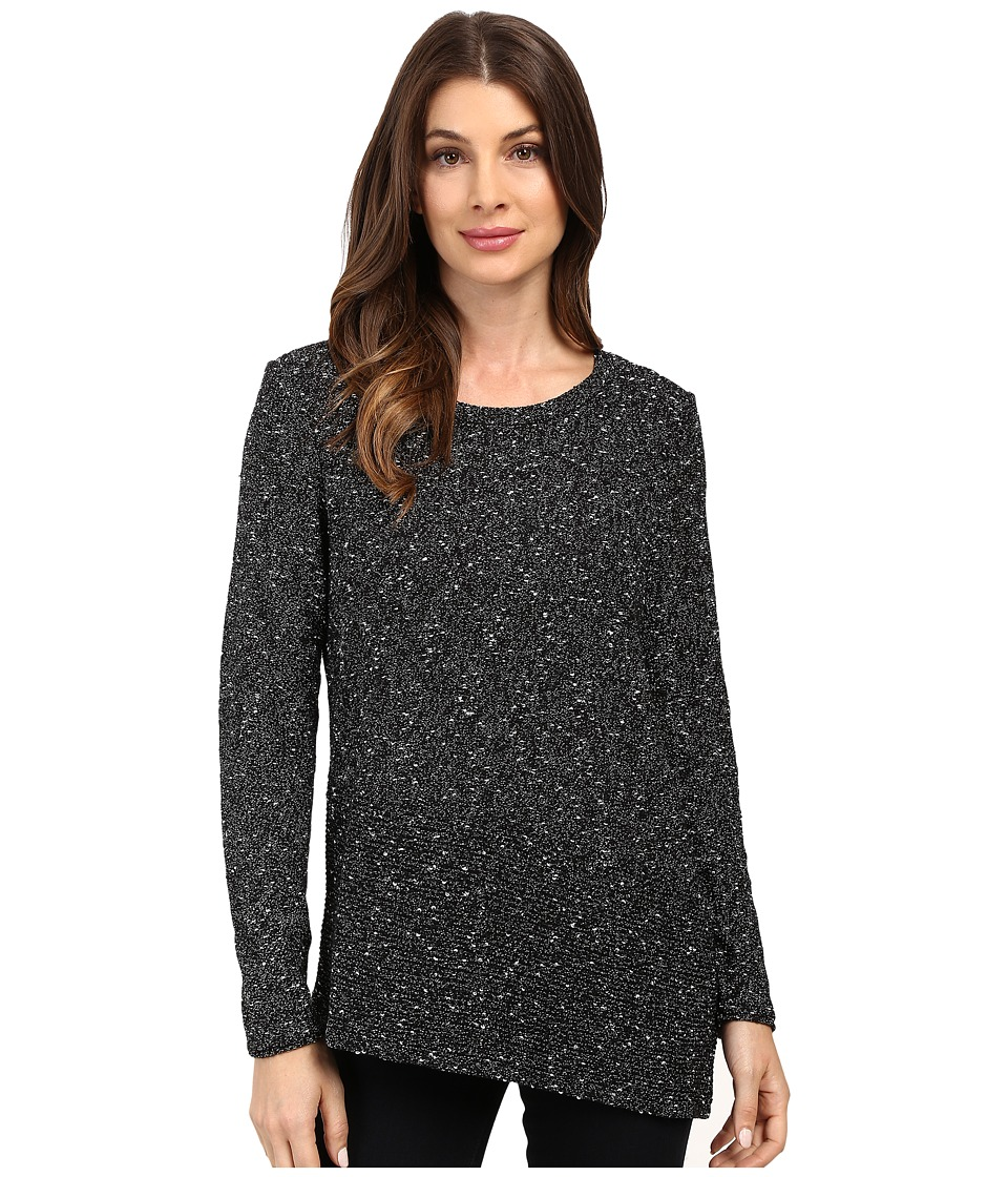 NIC+ZOE - Sunlit Strokes Top (Black Onyx) Women's Sweater