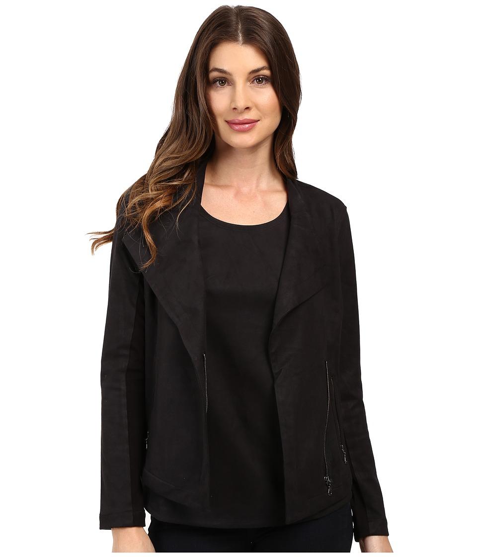 NIC+ZOE - Vegan Suede Jacket (Black Onyx) Women's Jacket