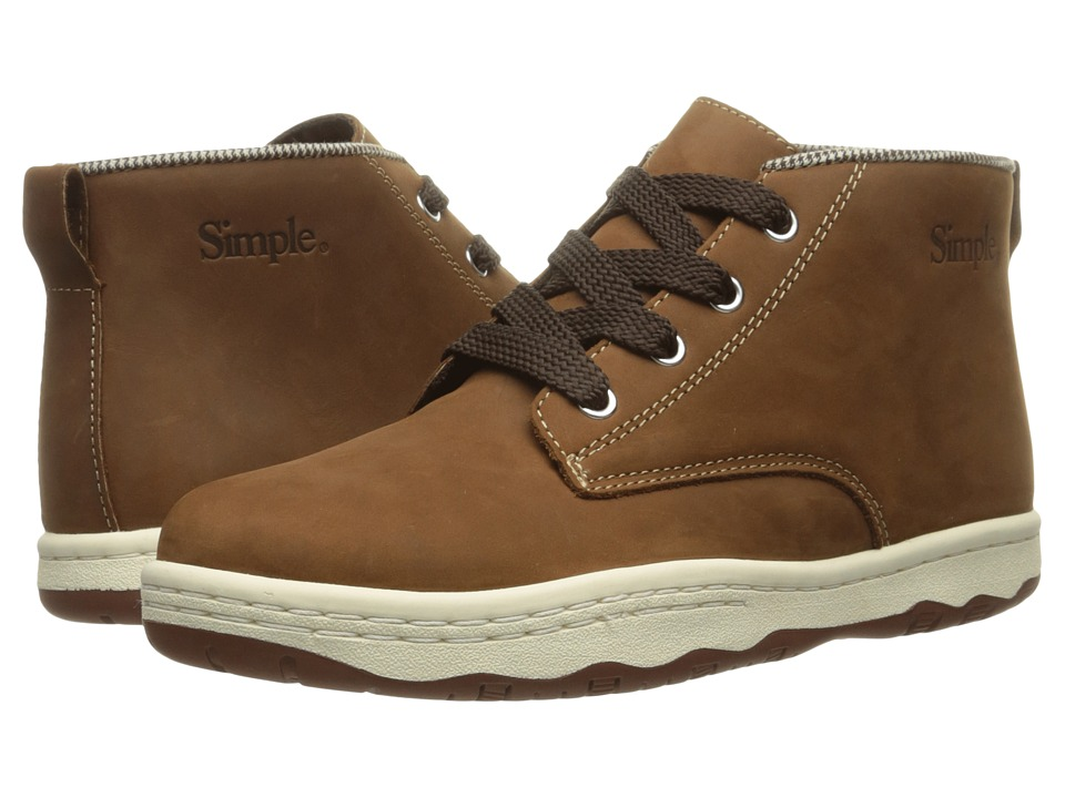 Simple - Barney-91L (Dark Tan) Men's Shoes