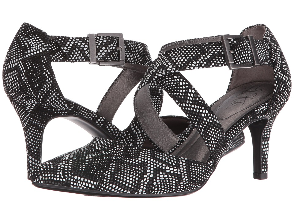 LifeStride - See This (Black/White Snake) Women's Shoes