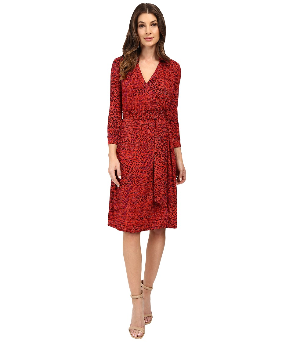 NIC+ZOE - On Track Wrap Dress (Multi) Women's Dress