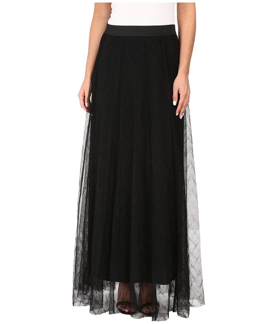 NIC+ZOE - Zigzag Tulle Skirt (Black Onyx) Women's Skirt