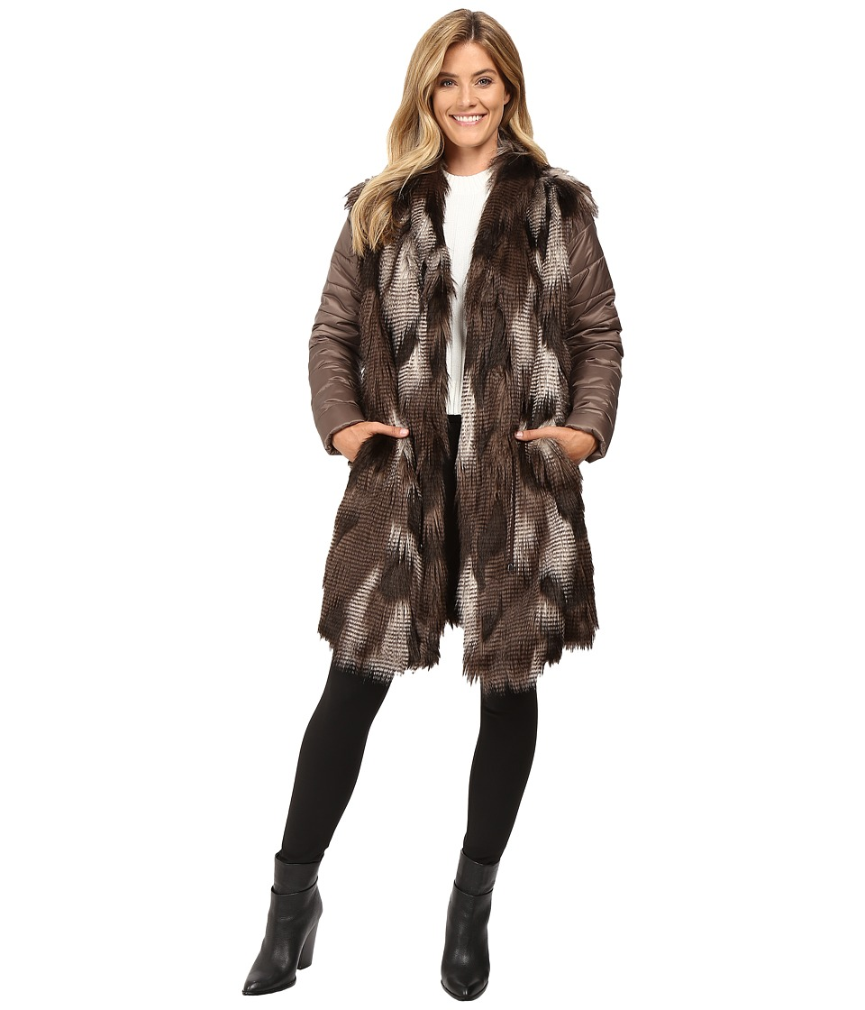 NIC+ZOE - Faux Fur Puffer Jacket (Multi) Women's Coat