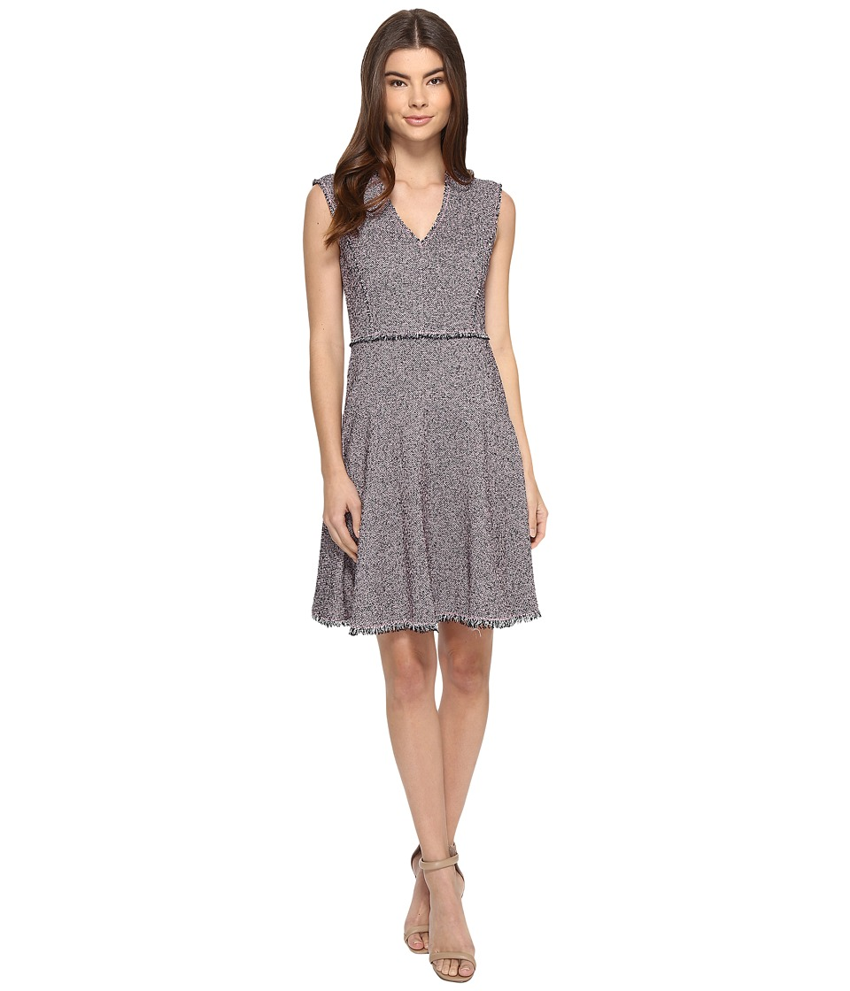 Rebecca Taylor - Sleeveless Stretch Tweed Dress (Pink/Navy) Women's Dress