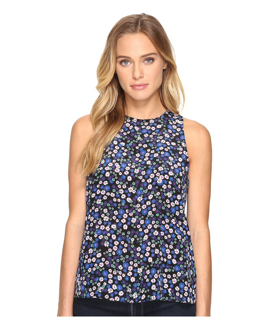 Rebecca Taylor - Juliet Fleur Print Tank Top (Black Combo) Women's Sleeveless