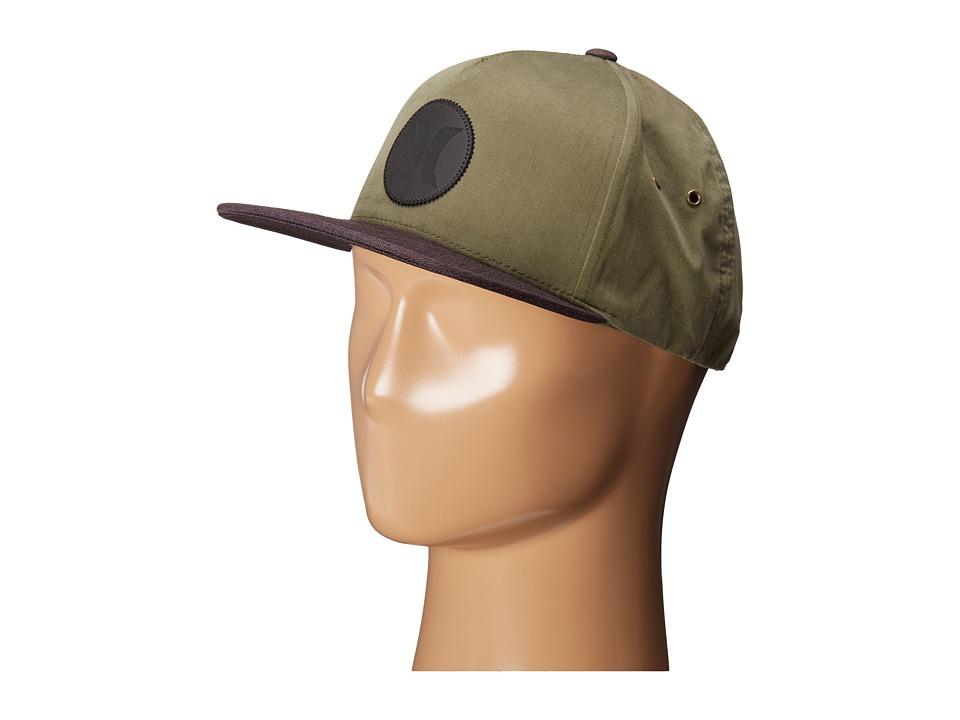 Hurley - Icon Vapor Wash Snapback (Faded Olive) Caps