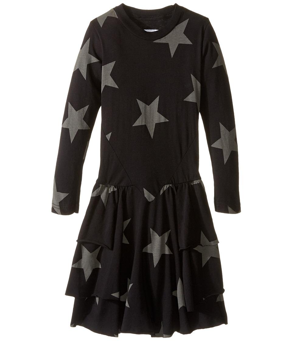 Nununu - Extra Soft Layered Dress (Infant/Toddler/Little Kids) (Black) Girl's Dress