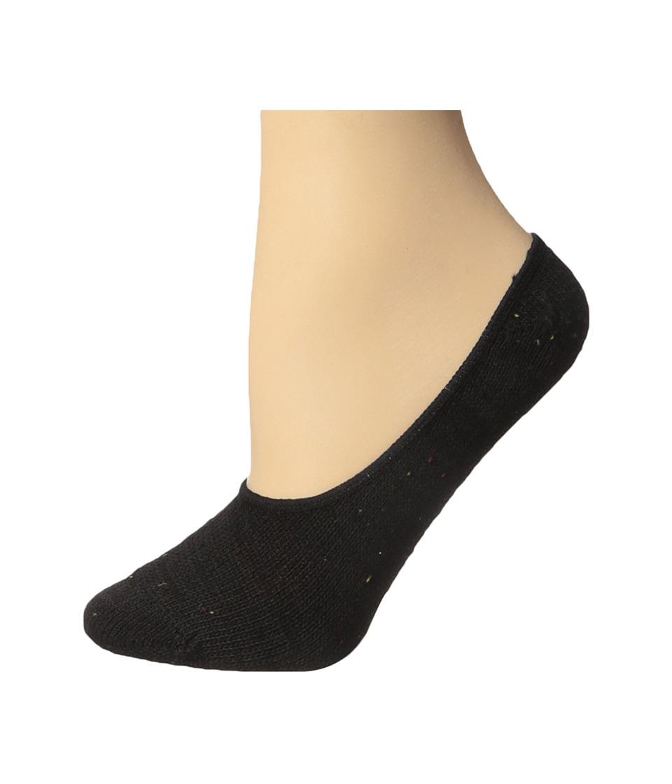 Steve Madden - 2-Pack Marl Boot Footie (Black/Black) Women's Crew Cut Socks Shoes