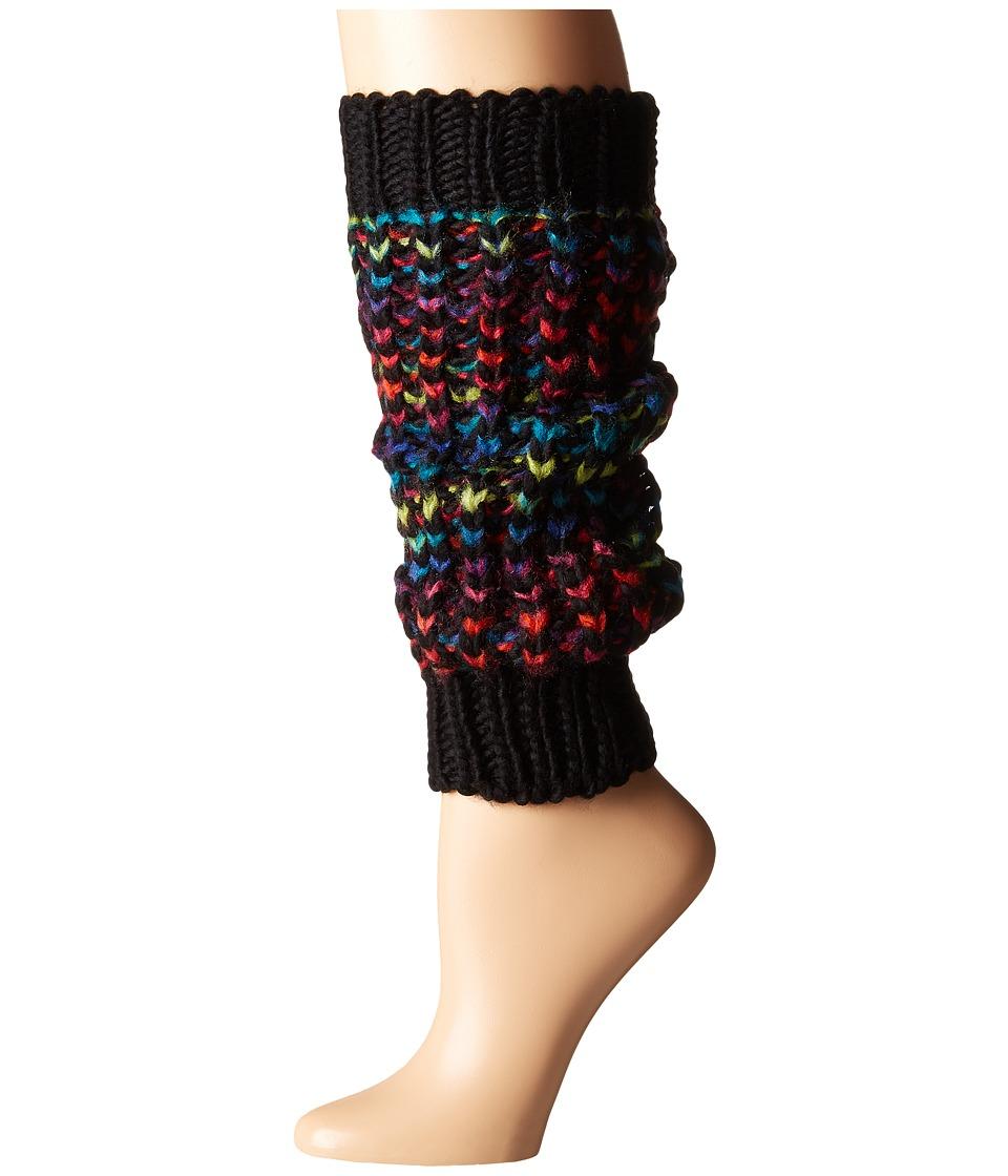 Steve Madden - Colorful Leg Warmer (Black) Women's Knee High Socks Shoes