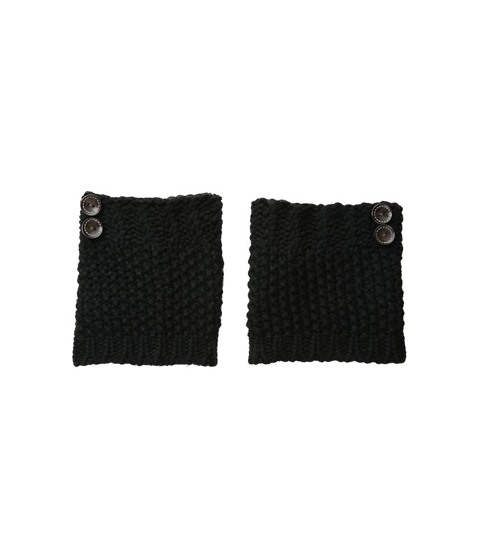 Steve Madden - Button Boot Cuff (Black) Women's Crew Cut Socks Shoes