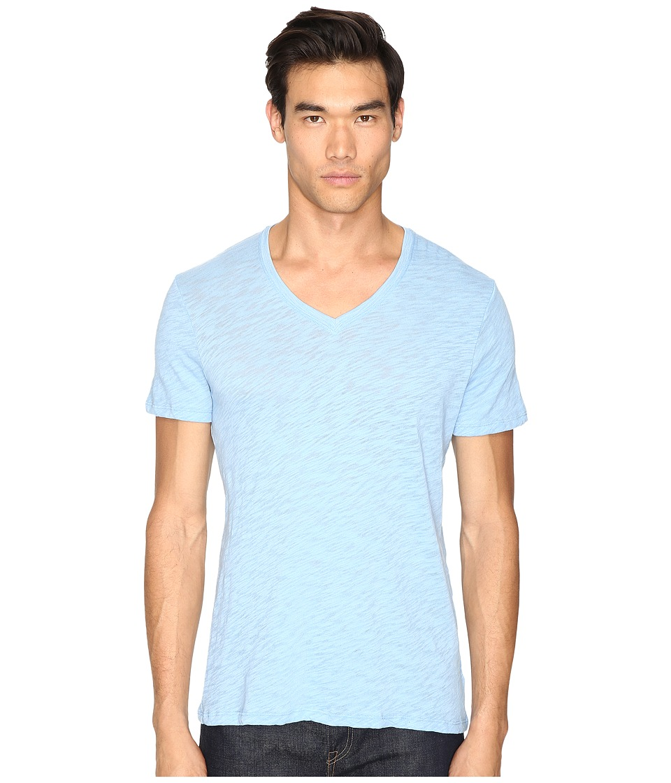 ATM Anthony Thomas Melillo - Slub Jersey V-Neck (Sky) Men's T Shirt