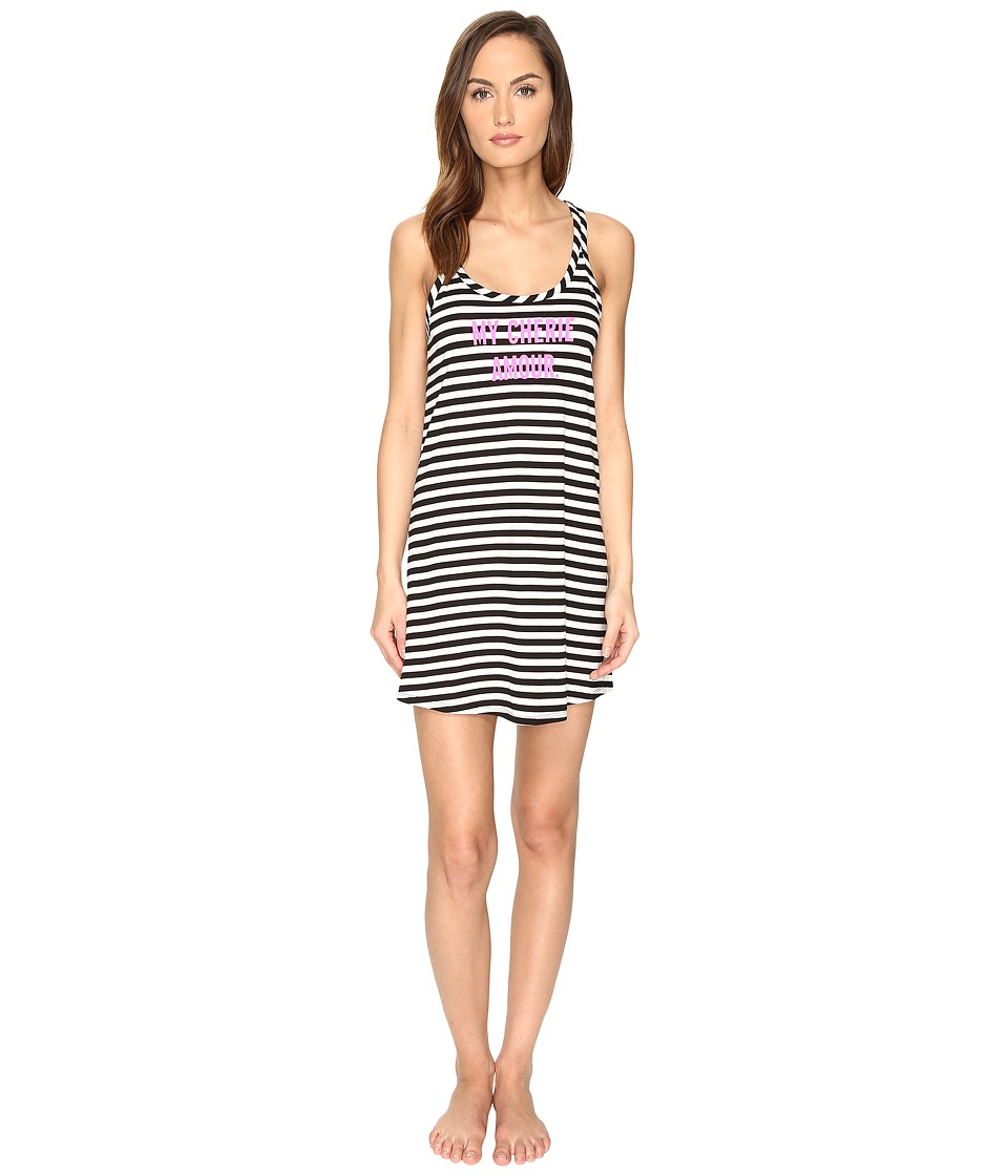 Kate Spade New York - My Cherie Amour Chemise (Black/Cream Stripe) Women's Pajama