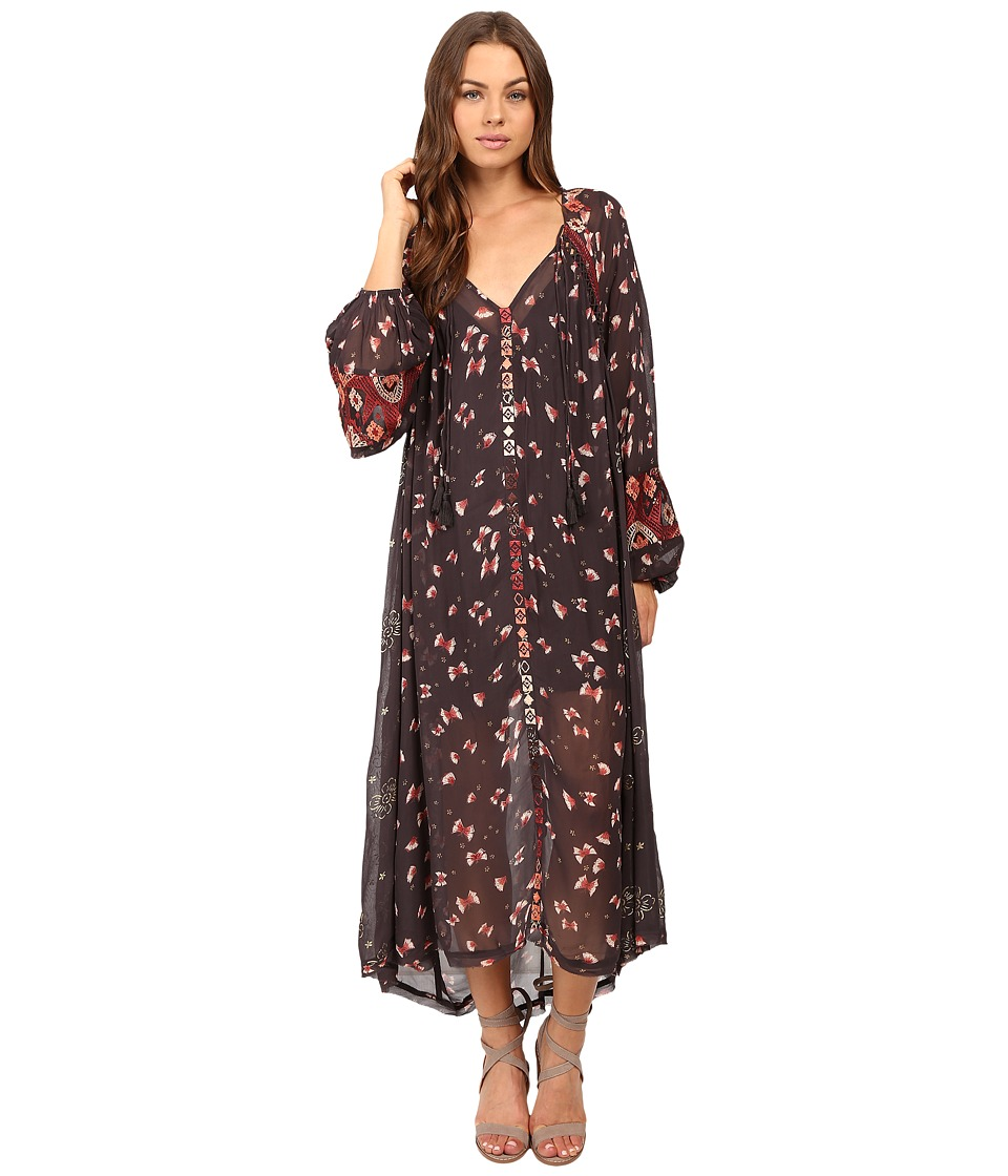 Free People - Viceroy Printed Maxi Dress (Black Combo) Women's Dress