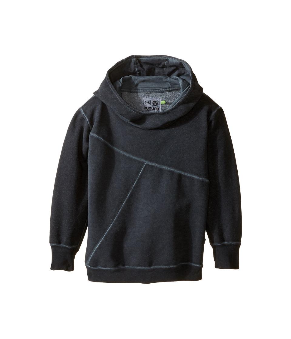 Nununu - Extra Soft Exclamation Screen Hoodie (Infant/Toddler/Little Kids) (Dyed Black) Kid's Sweatshirt
