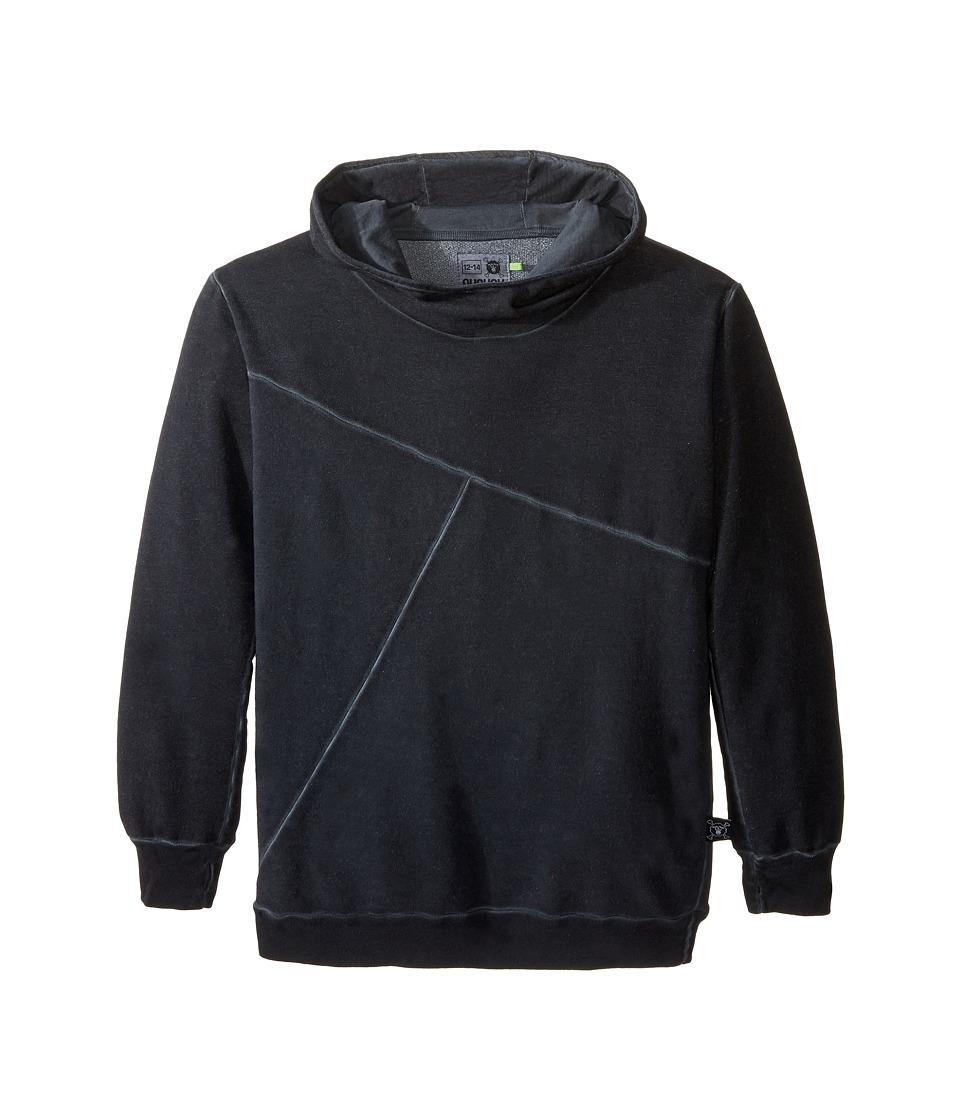 Nununu - Extra Soft Exclamation Screen Hoodie (Little Kids/Big Kids) (Dyed Black) Kid's Sweatshirt