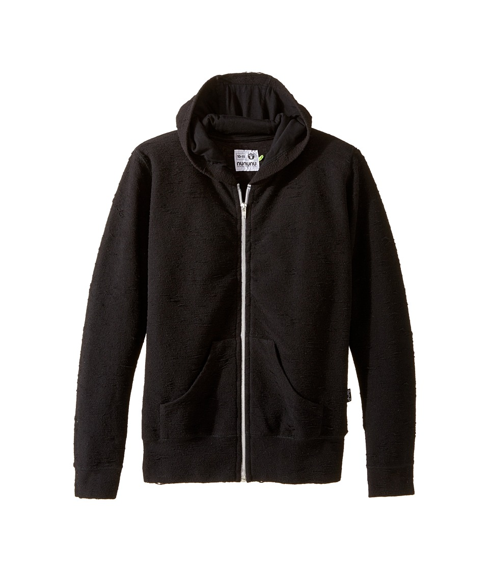Nununu - Deconstructed Detail Extra Soft Hoodie (Little Kids/Big Kids) (Black) Kid's Sweatshirt