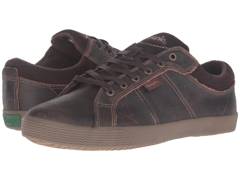 Simple - Waveoff (Dark Brown) Men's Shoes