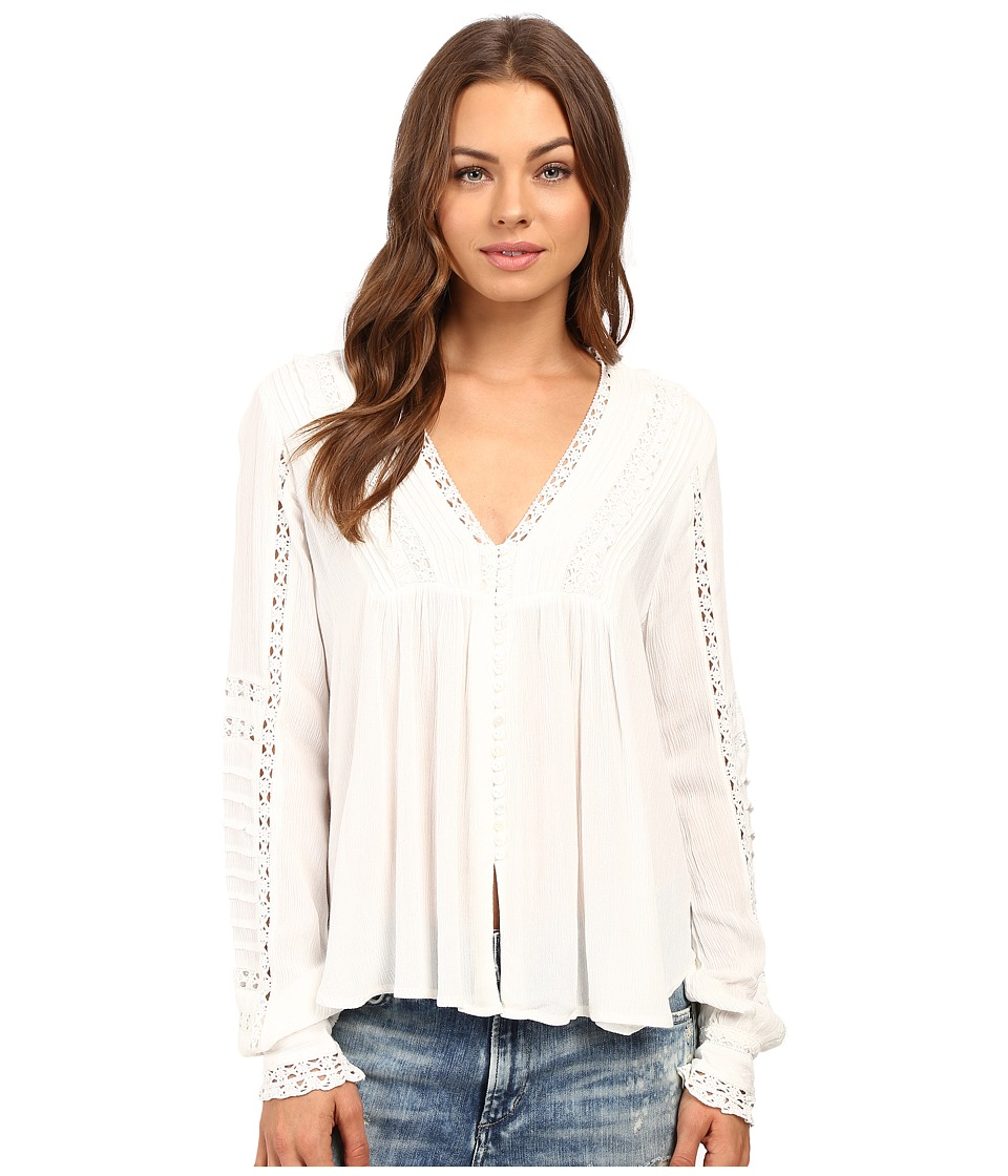 Free People - Meet Me Halfway Top (Ivory) Women's Long Sleeve Pullover