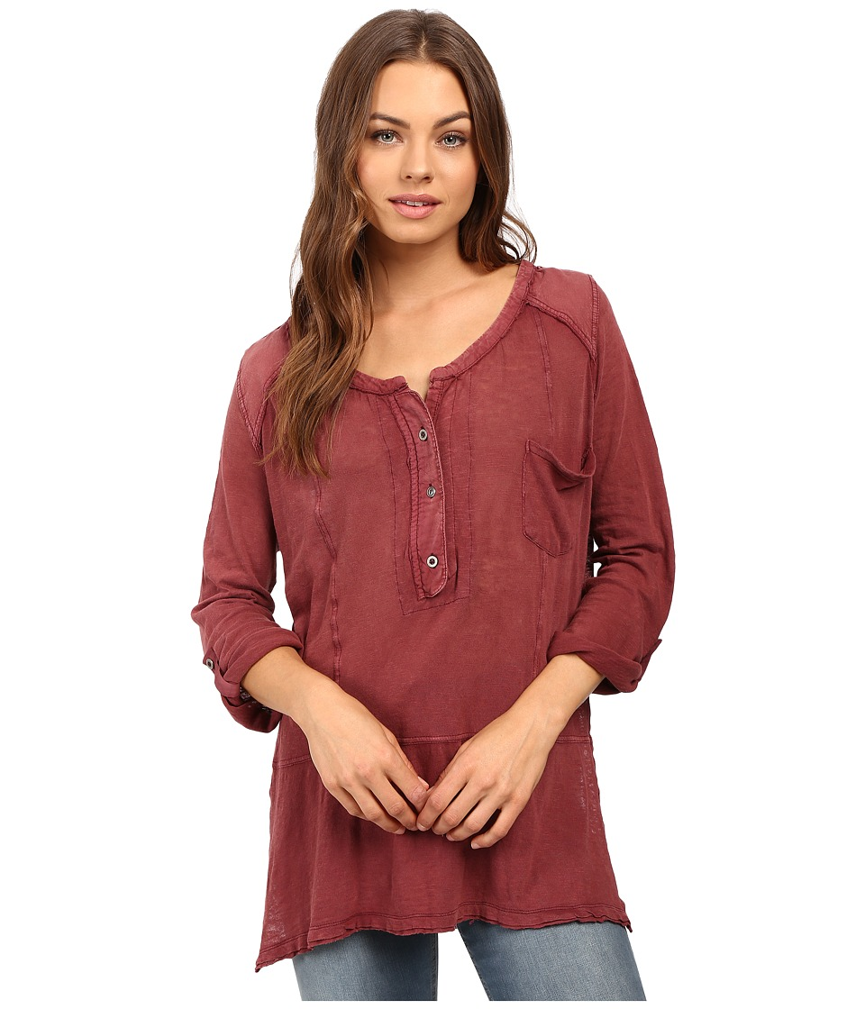 Free People - Stargazer Henley (Red) Women's Clothing
