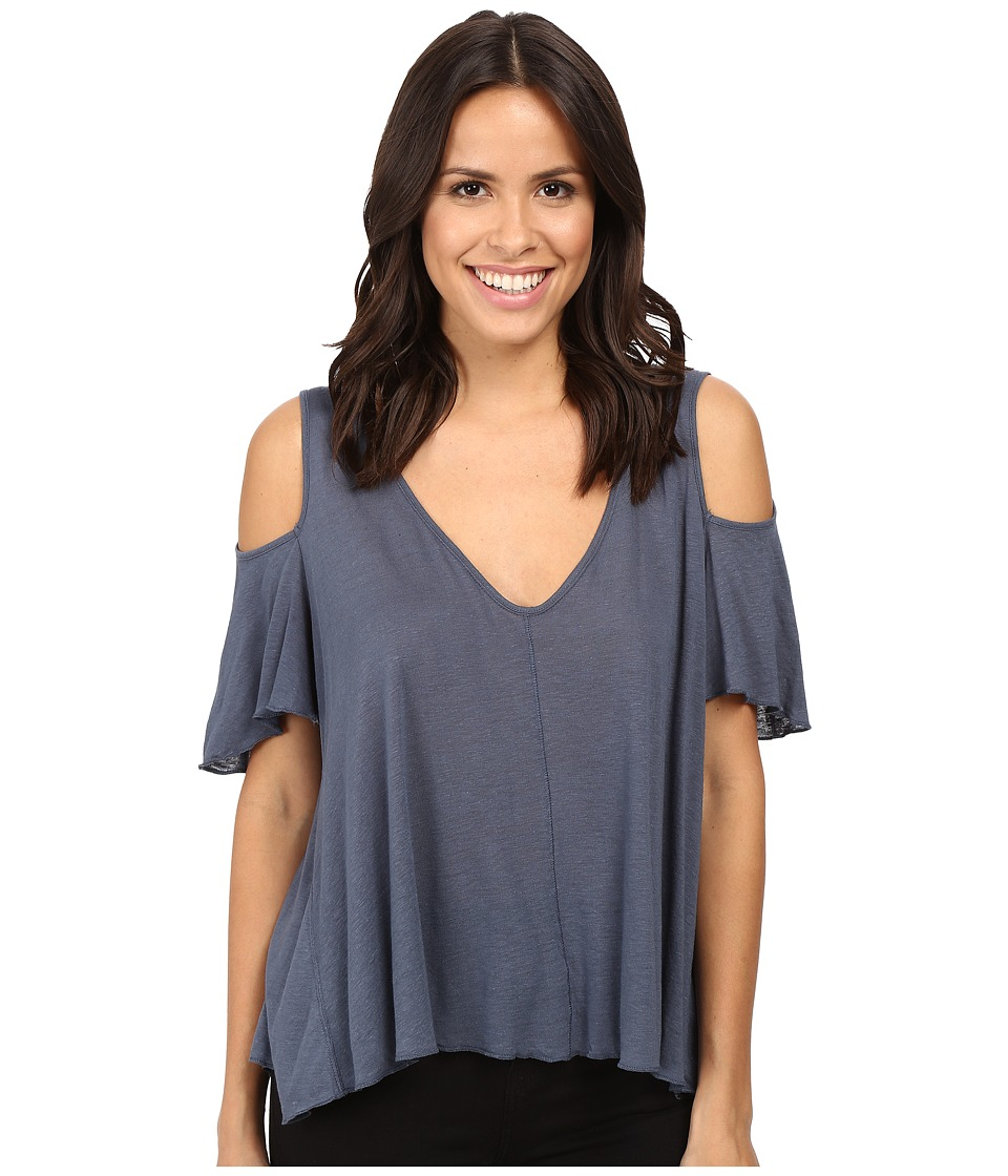 Free People - Bittersweet Tee (Denim Blue) Women's T Shirt