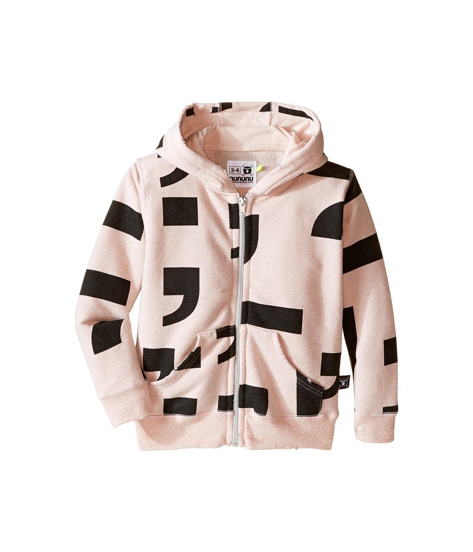 Nununu - Extra Soft Punctuation Screen Zip Hoodie (Infant/Toddler/Little Kids) (Powder Pink) Girl's Sweatshirt