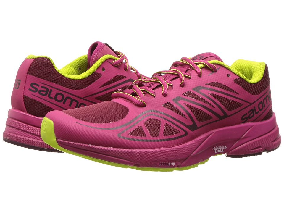 Salomon - Sonic Aero (Tibetan Red/Sangria/Lime Punch) Women's Shoes