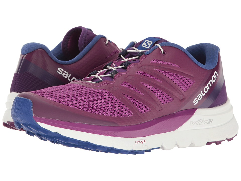 Salomon - Sense Pro Max (Grape Juice/White/Surf The Web) Women's Shoes