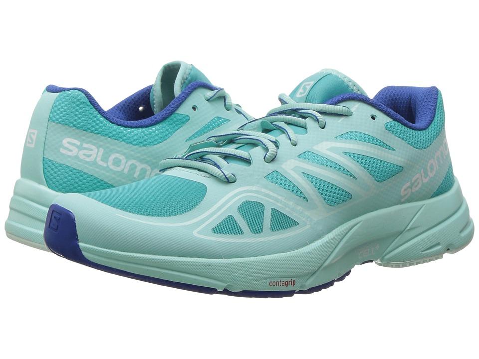 Salomon - Sonic Aero (Ceramic/Aruba Blue/Nautical Blue) Women's Shoes