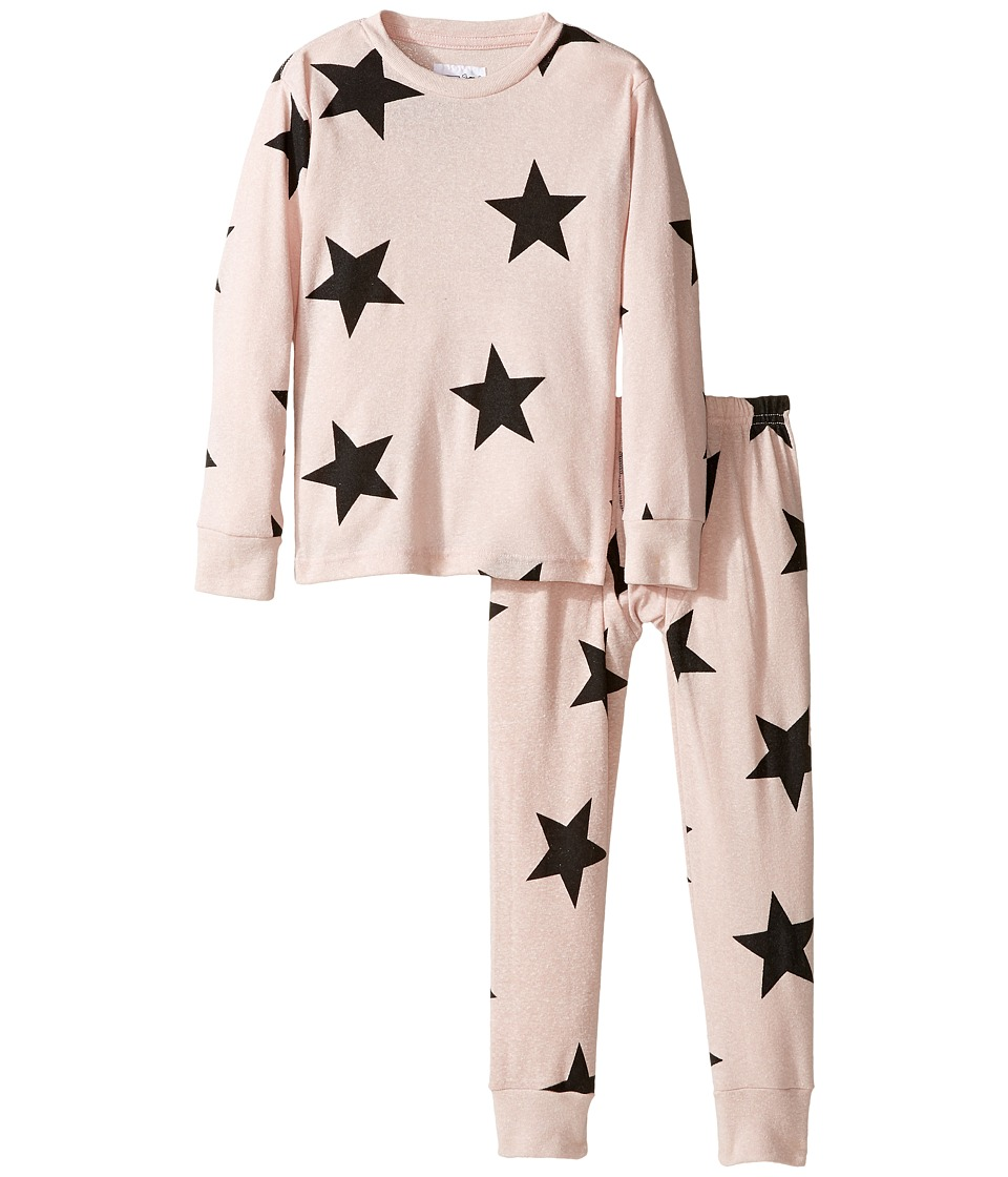Nununu - Super Soft Star Print Loungewear Set (Infant/Toddler/Little Kids) (Powder Pink) Girl's Active Sets