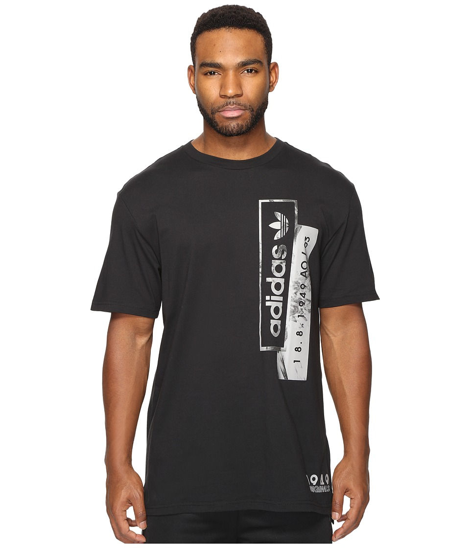 adidas Originals - Linear Overlays (Black) Men's T Shirt
