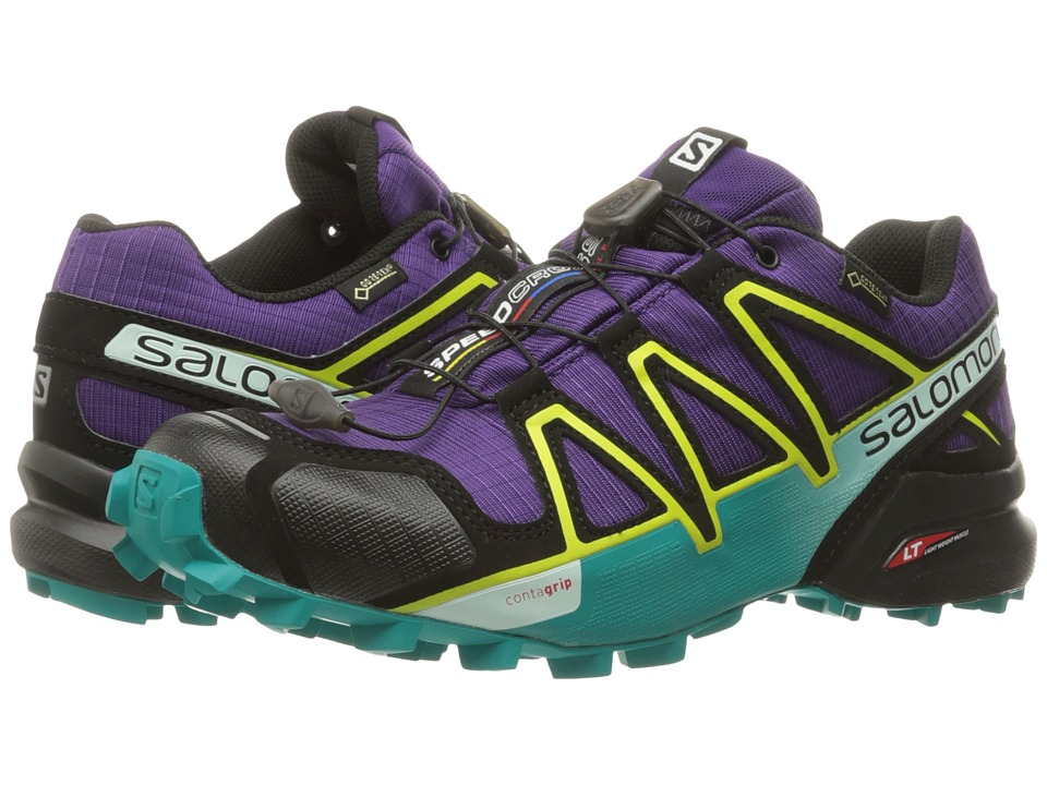 Salomon - Speedcross 4 GTX (Acai/Deep Peacock Blue/Sulphur Spring) Women's Shoes