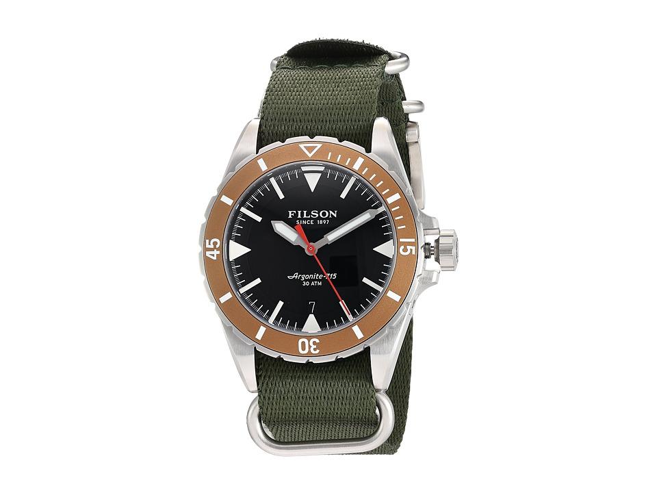 Filson - Dutch Harbor Watch 43 mm (Black) Watches