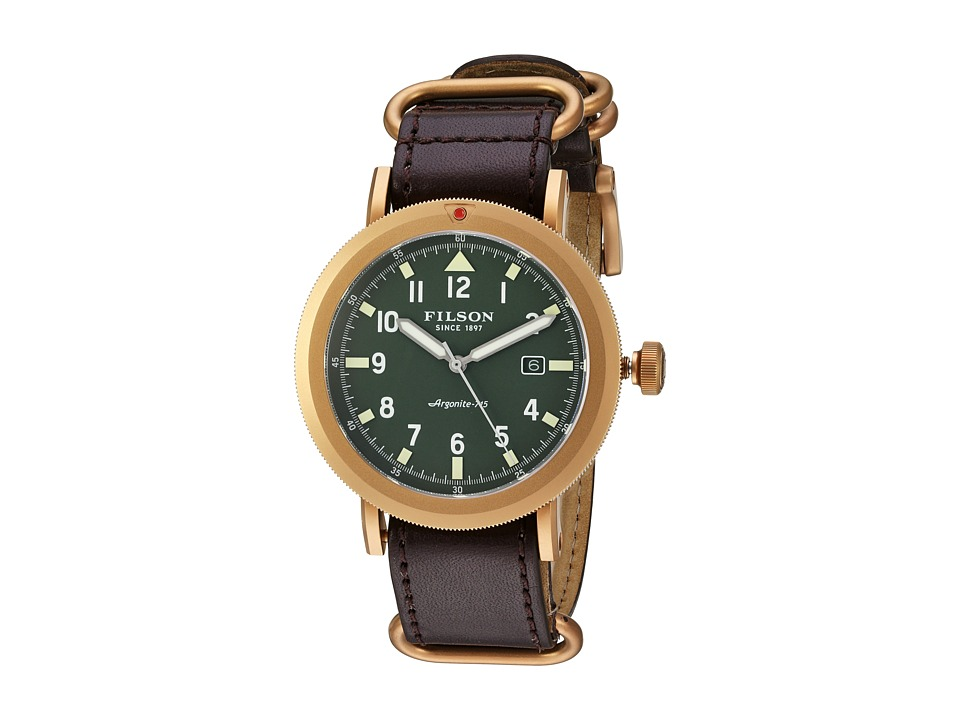 Filson - Scout Watch 45 mm (Stainless Steel/Bridle Leather) Watches