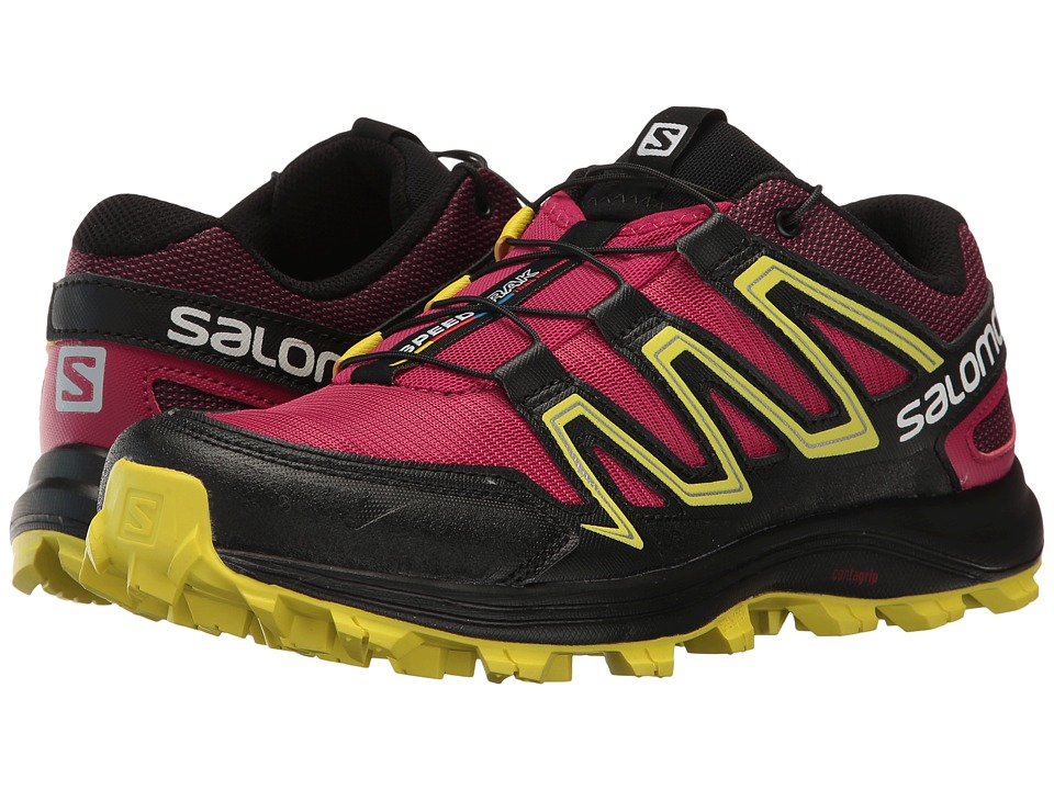 Salomon - Speedtrak (Sangria/Sulphur Spring/Black) Women's Shoes