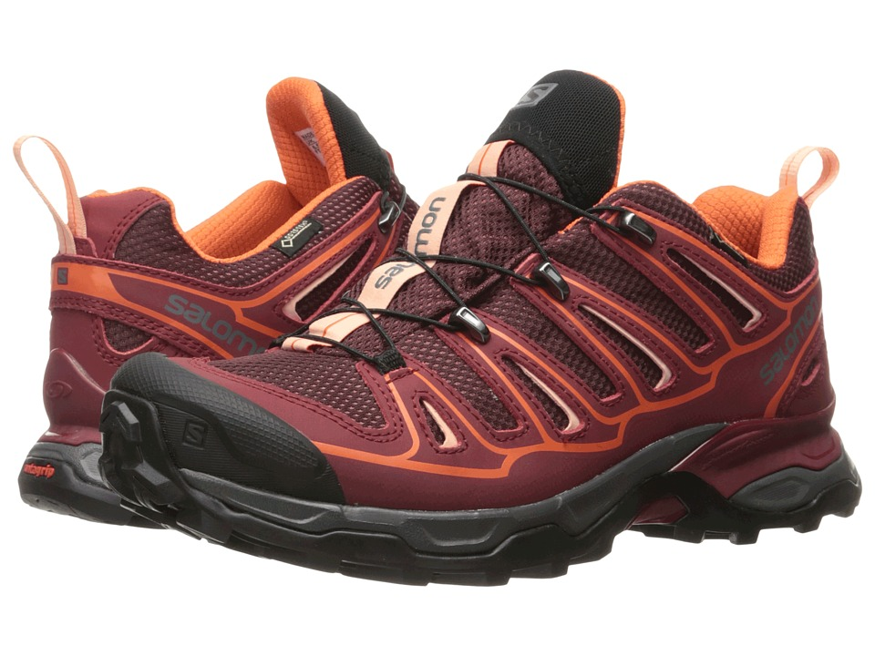 Salomon - X Ultra 2 GTX (Fig/Tibetan Red/Flame) Women's Shoes