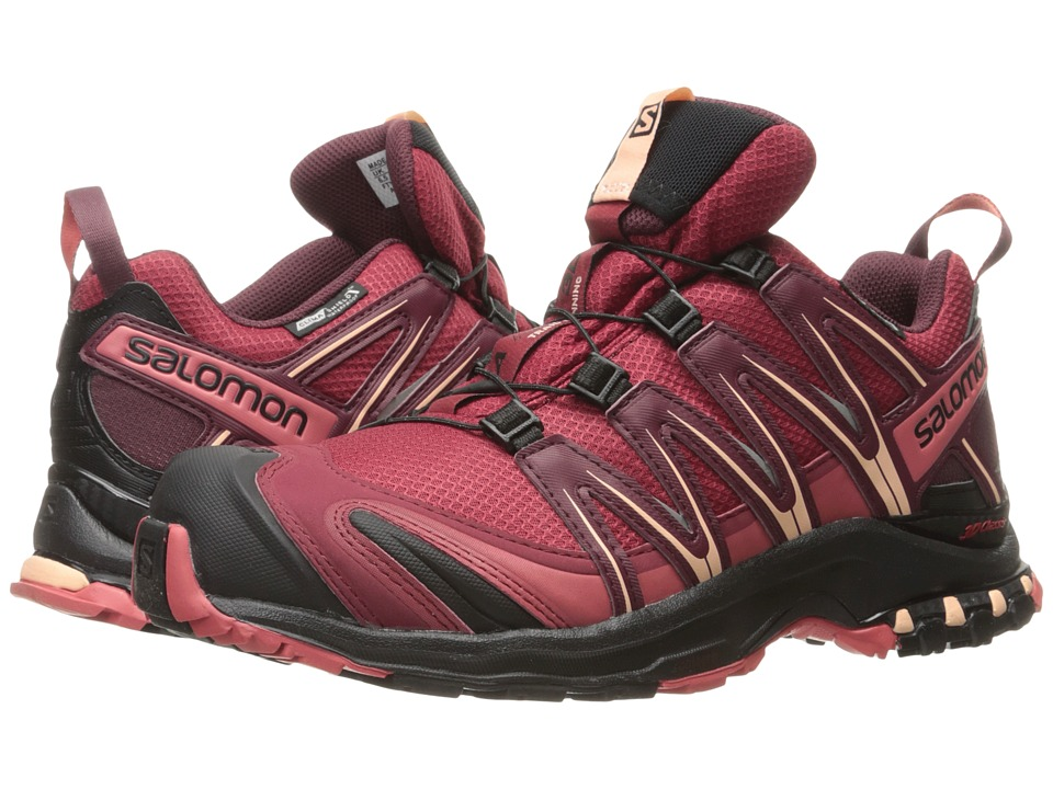 Salomon - XA PRO 3D CS WP (Tibetan Red/Black/Mineral Red) Women's Shoes