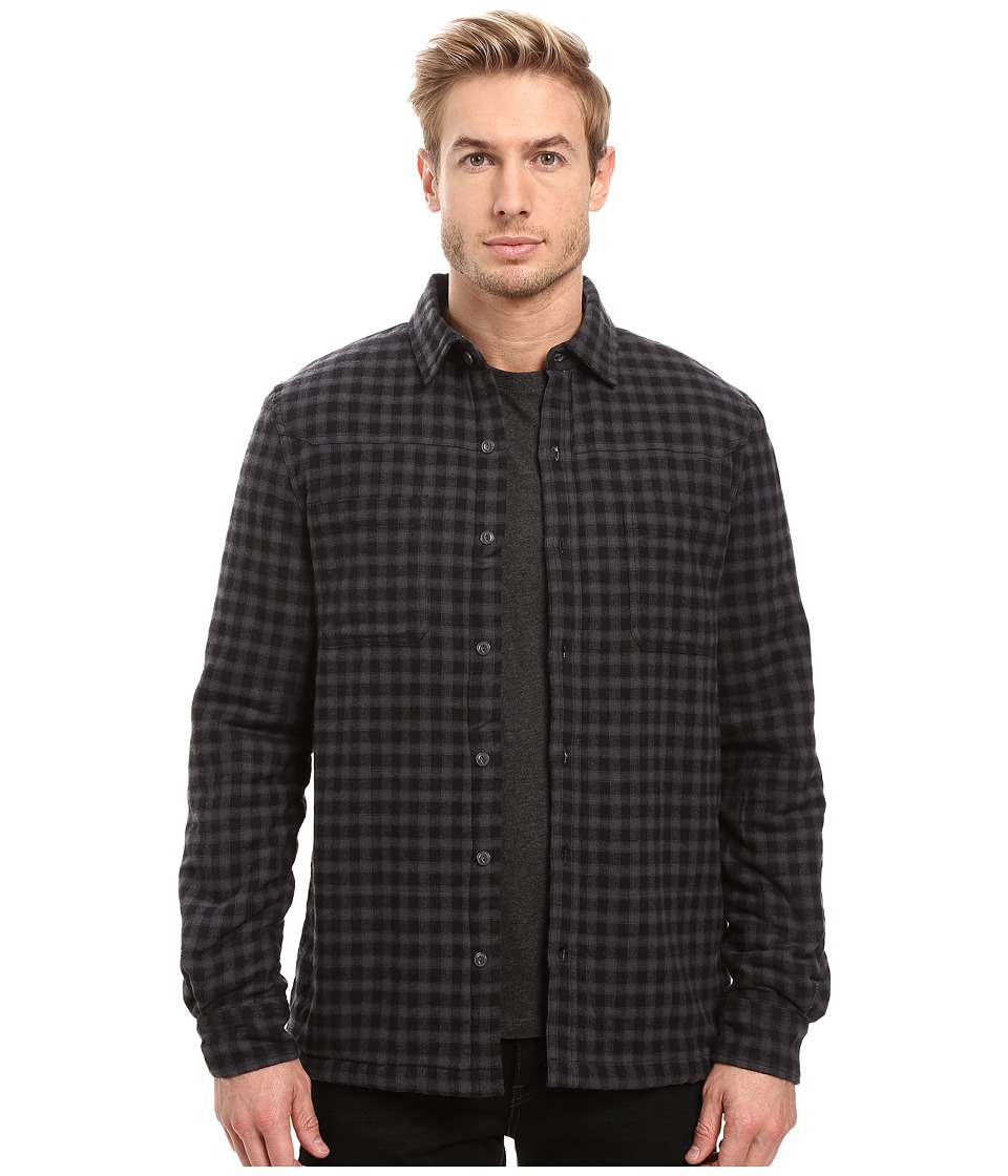 Threads 4 Thought - Sherpa Lined Plaid Workshirt (Dark Grey) Men's Clothing