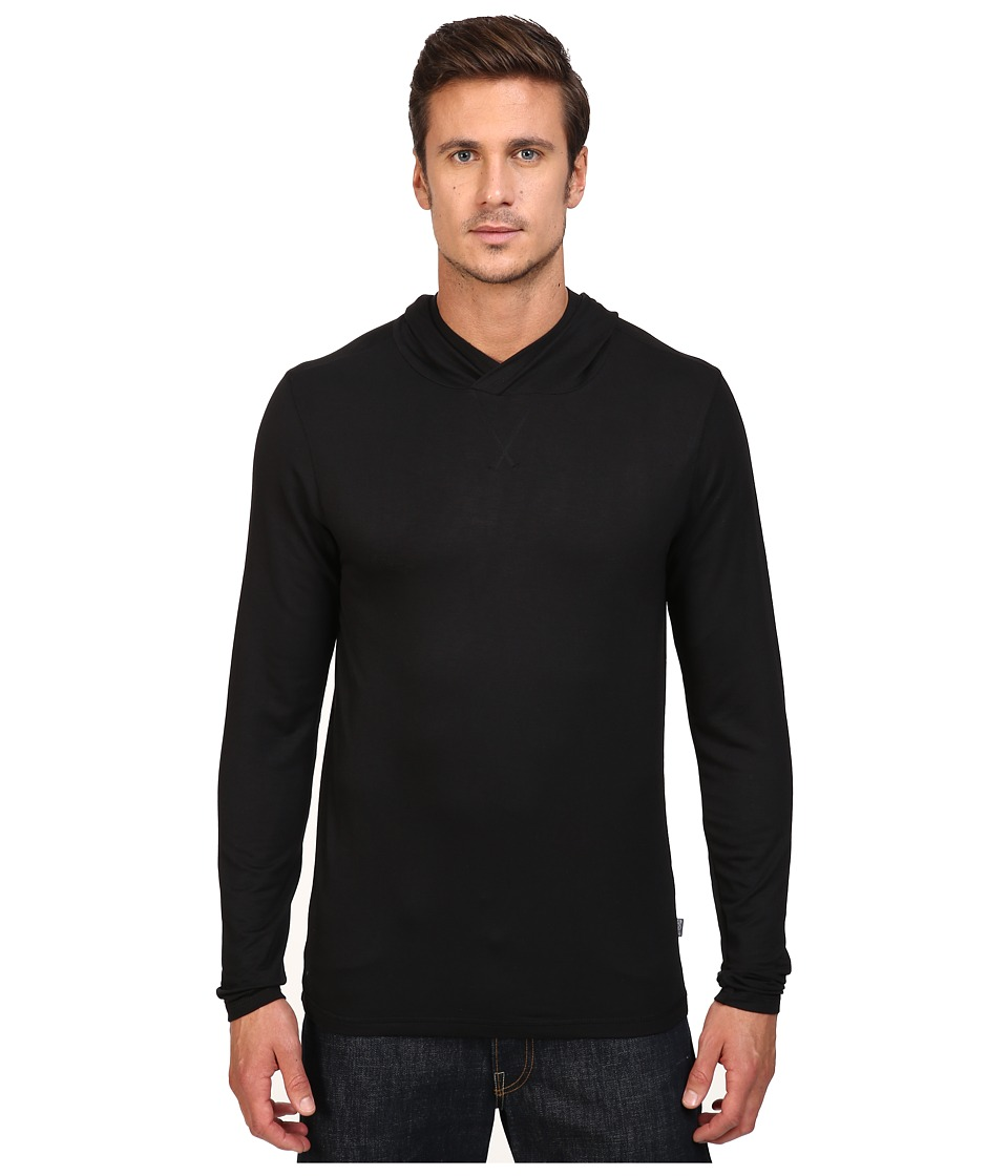 Threads 4 Thought - Baseline Modal Pullover Hoodie (Black) Men's Sweatshirt