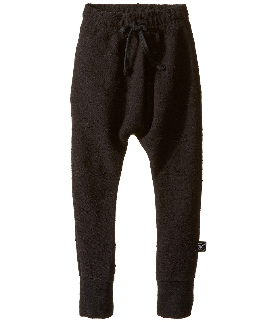 Nununu - Deconstructed Extra Soft Baggy Pants (Infant/Toddler/Little Kids) (Black) Kid's Casual Pants