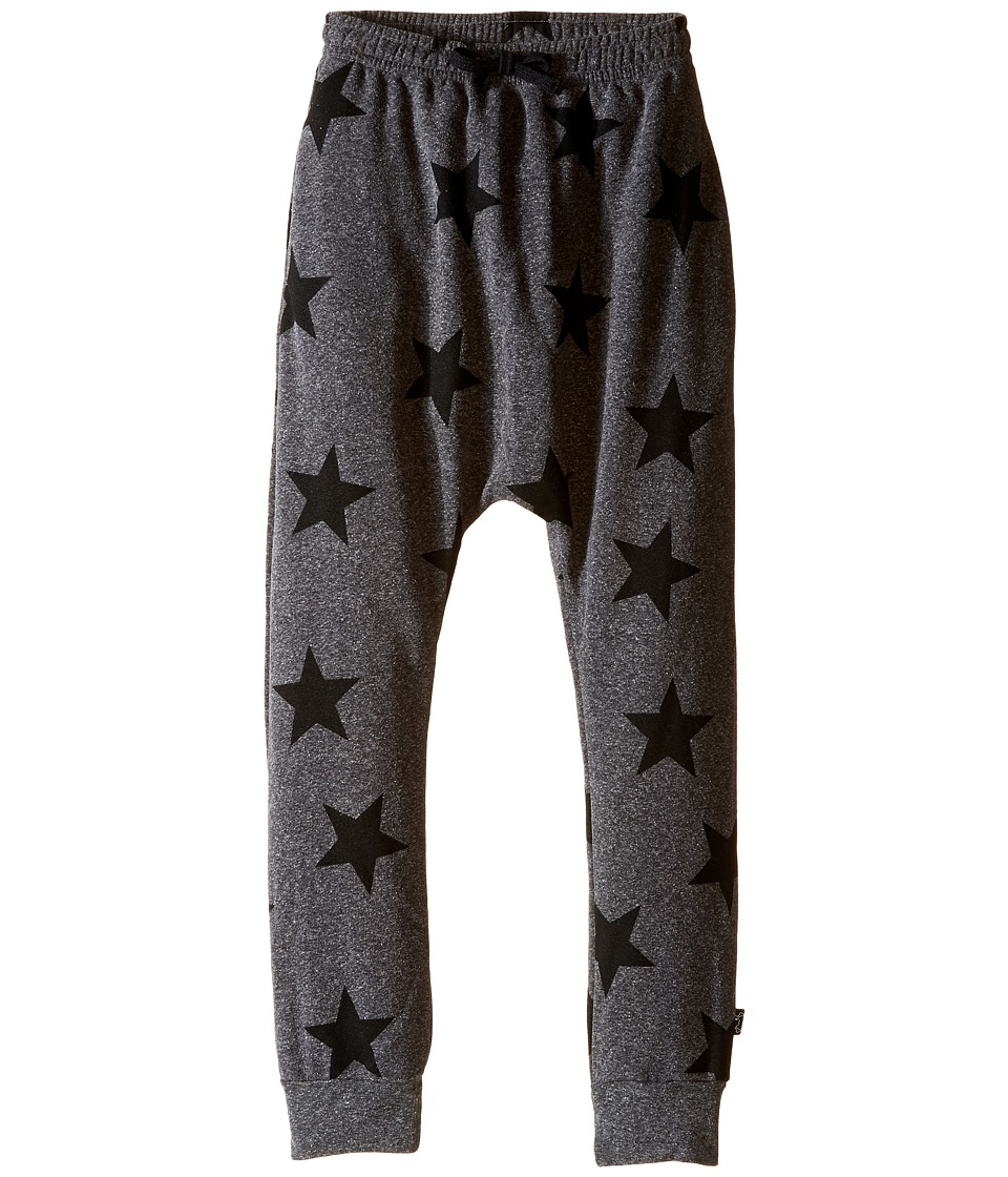 Nununu - Extra Soft Star Print Baggy Pants (Little Kids/Big Kids) (Charcoal) Kid's Casual Pants