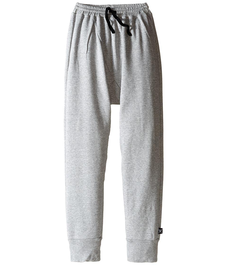 Nununu - Diagonal Super Soft Sweatpants (Little Kids/Big Kids) (Heather Grey) Kid's Casual Pants