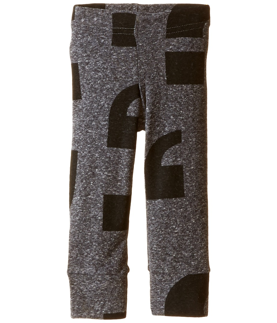 Nununu - Punctuation Print Extra Soft Leggings (Infant/Toddler/Little Kids) (Charcoal) Kid's Casual Pants