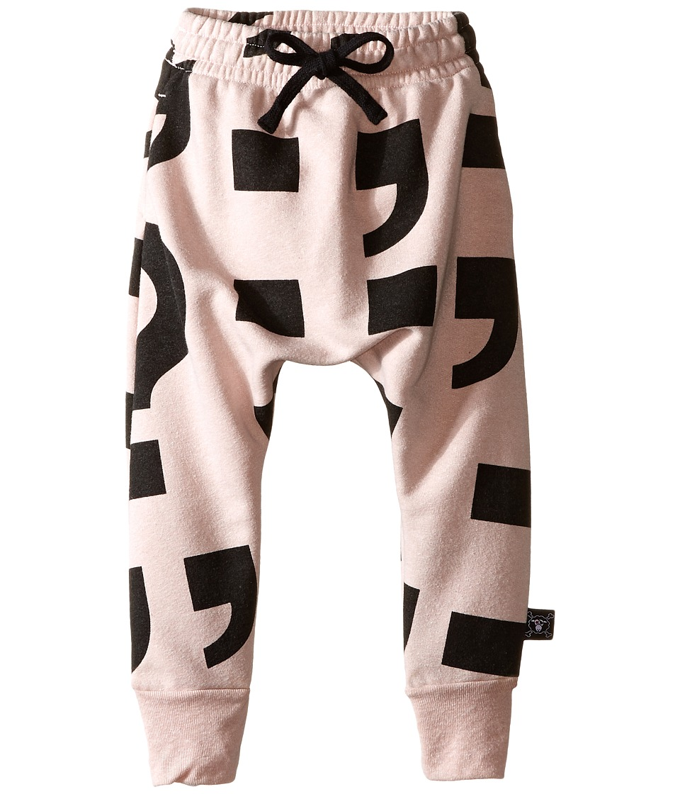 Nununu - Extra Soft Punctuation Pring Baggy Pants (Infant/Toddler/Little Kids) (Powder Pink) Girl's Casual Pants