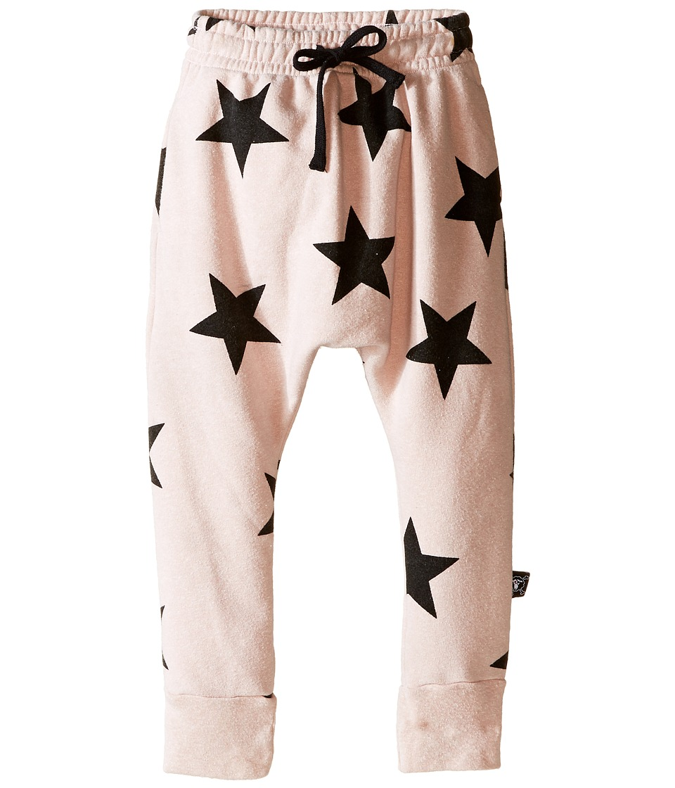 Nununu - Extra Soft Star Print Baggy Pants (Infant/Toddler/Little Kids) (Powder Pink) Girl's Casual Pants