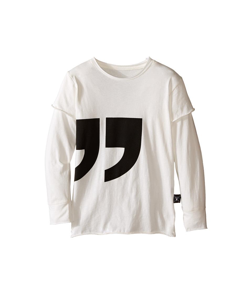 Nununu - Super Soft Quotation T-Shirt (Infant/Toddler/Little Kids) (White) Kid's T Shirt
